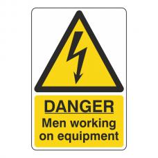 Danger Men Working On Equipment Sign