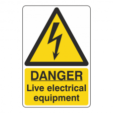 Danger Live Electrical Equipment Sign