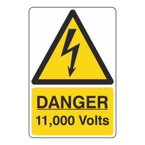 Danger 11,000 Volts Sign