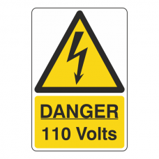 Danger 100 Volts Sign