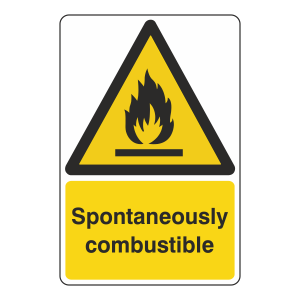 Spontaneously Combustible Sign