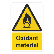 Oxidant Material Sign