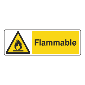Flammable Sign (Landscape)