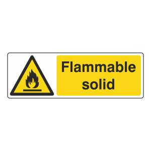 Flammable Solid Sign (Landscape)