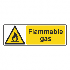 Flammable Gas Sign (Landscape)