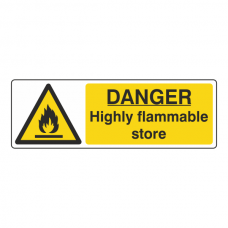 Danger Highly Flammable Store Sign (Landscape)