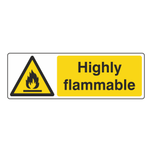 Highly Flammable Sign (Landscape)
