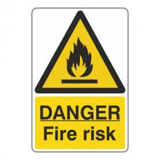 Danger Fire Risk Sign