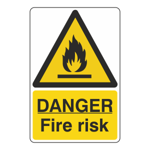 Danger Fire Risk Sign