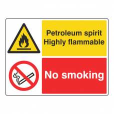 Petroleum Spirit / No Smoking Sign (Large Landscape)