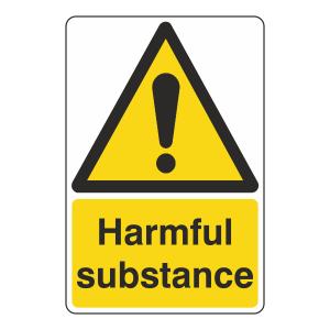 Harmful Substance Sign