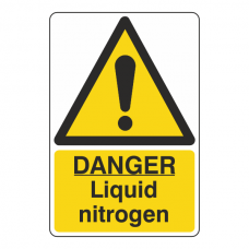 Danger Liquid Nitrogen Sign