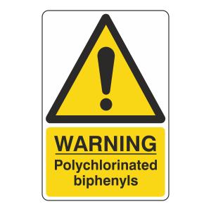 Warning Polychlorinated Biphenyls Sign