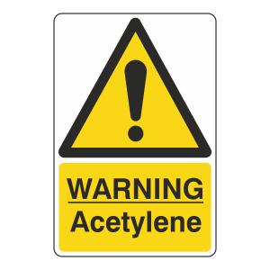 Warning Acetylene Sign
