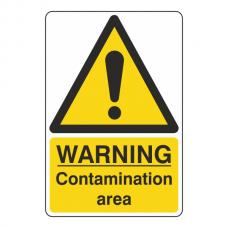 Warning Contamination Area Sign