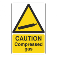 Caution Compressed Gas Sign