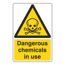 Dangerous Chemicals In Use Sign