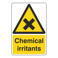 Chemical Irritants Sign