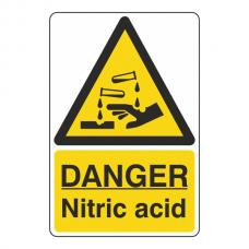 Danger Nitric Acid Sign