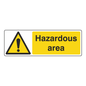Hazardous Area Sign (Landscape)