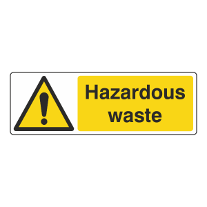 Hazardous Waste Sign (Landscape)