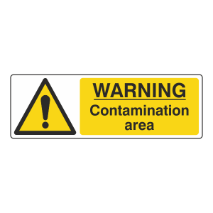 Warning Contamination Area Sign (Landscape)