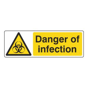 Danger Of Infection Sign (Landscape)