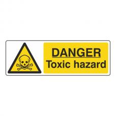 Danger Toxic Hazard Sign (Landscape)