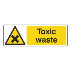 Toxic Waste Sign (Landscape)