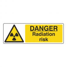 Danger Radiation Risk Sign (Landscape)