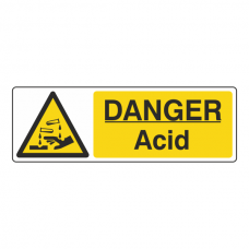 Danger Acid Sign (Landscape)