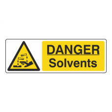 Danger Solvents Sign (Landscape)