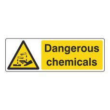 Dangerous Chemicals Sign (Landscape)