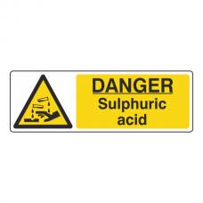 Danger Sulphuric Acid Sign (Landscape)
