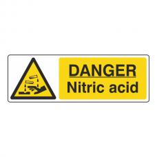 Danger Nitric Acid Sign (Landscape)