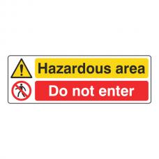Hazardous Area / Do Not Enter Sign (Landscape)