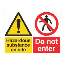Hazardous Substance / Do Not Enter Sign (Large Landscape)