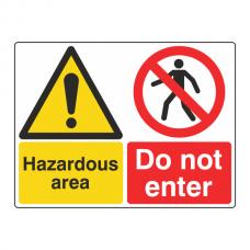 Hazardous Area / Do Not Enter Sign (Large Landscape)