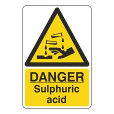 Danger Sulphuric Acid Sign