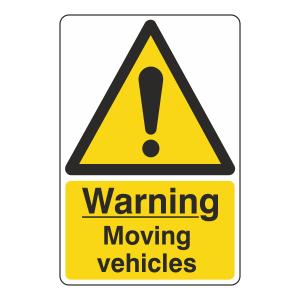 Warning Moving Vehicles Sign