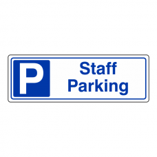 Staff Parking Sign (Landscape)