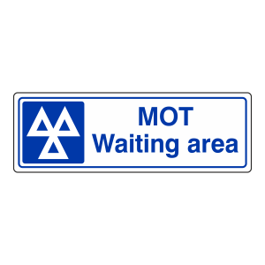 MOT Waiting Area Sign (Landscape)