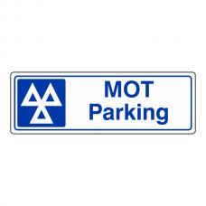 MOT Parking Sign (Landscape)