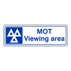 MOT Viewing Area Sign (Landscape)