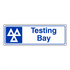 Testing Bay Sign (Landscape)