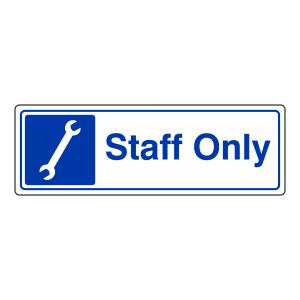 Staff Only Garage Sign (Landscape)
