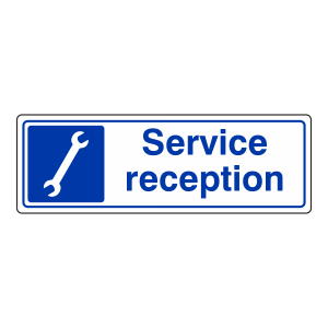 Service Reception Sign (Landscape)