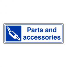 Parts & Accessories Sign (Landscape)