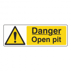 Danger Open Pit Sign (Landscape)