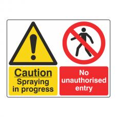 Spraying In Progress / No Entry Sign (Large Landscape)